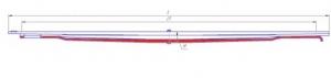 Лист № 3 рессоры передней МЛ КАМАЗ-65115