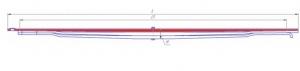 Лист № 1 рессоры передней МЛ с втулкой КАМАЗ-65115