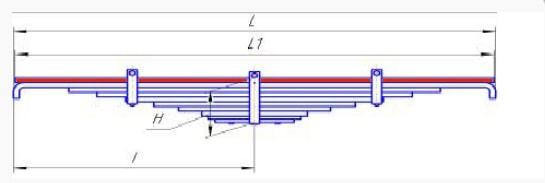 Лист № 1 рессоры передней Евро КАМАЗ-55111