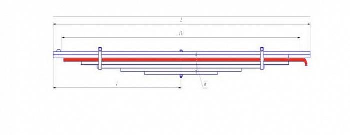 Лист № 3 рессоры передней МАЗ-64222
