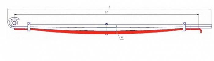 Лист № 3 рессоры передней МАЗ-6430