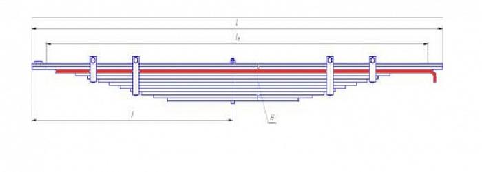 Лист № 3 рессоры передней  МАЗ-5336