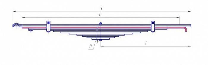 Лист № 3 рессоры передней УРАЛ-5557