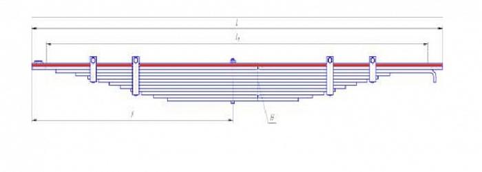 Лист № 1 рессоры передней МАЗ-5336
