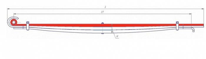 Лист № 1 рессоры передней МАЗ-6430